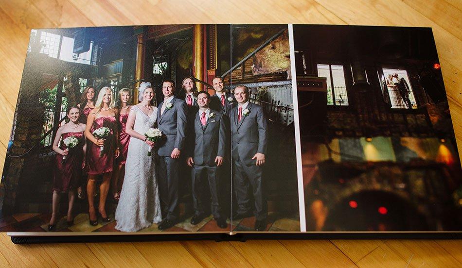 Navy Leather flush mount wedding album loring pasta bar