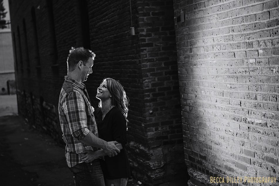 couple backlight alley lowertown st paul