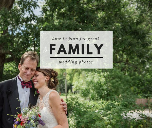 planning for family photos at your wedding
