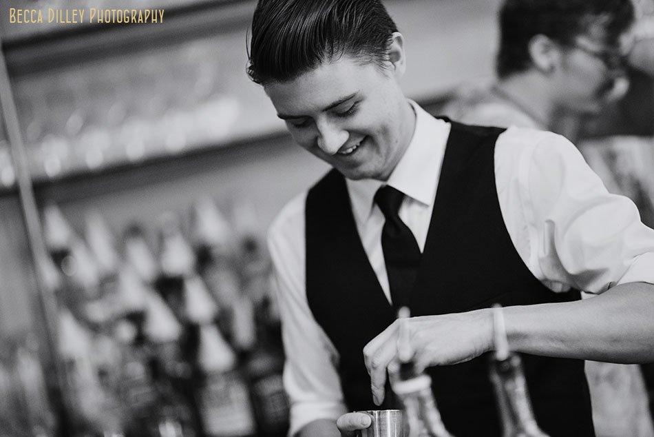 Adam Gorski of la belle vie making cocktail