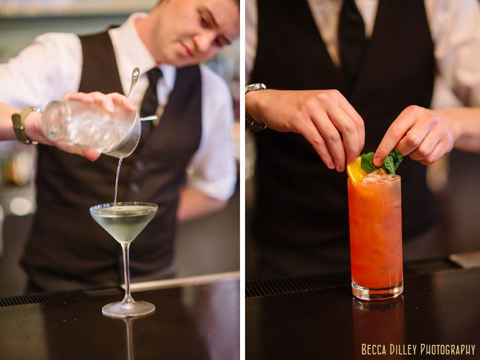Adam Gorski making drinks at la belle vie