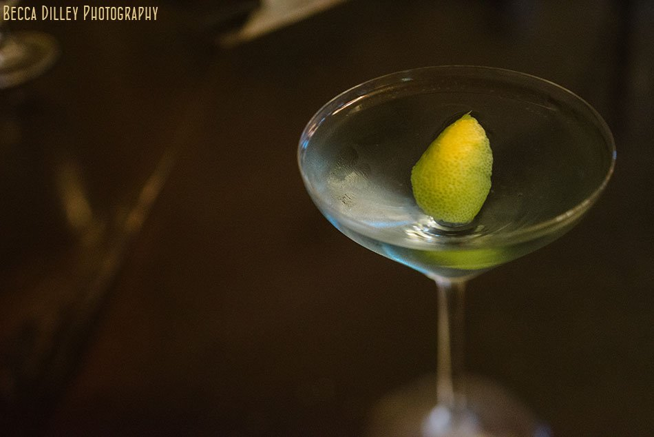close up of cocktail at la belle vie