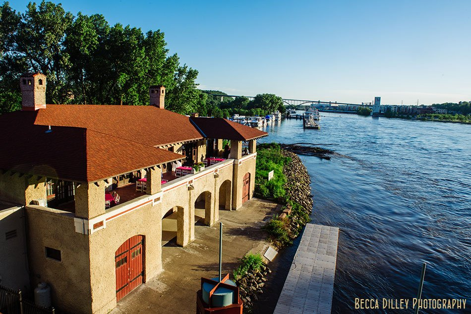 exterior of minnesota boat club on raspberry island st paul mn