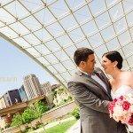 bride and groom on raspberry island st paul mn