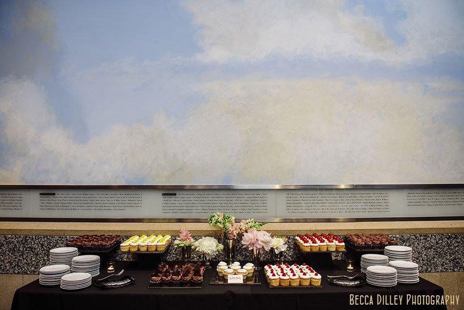 wedding dessert table minnsota history center