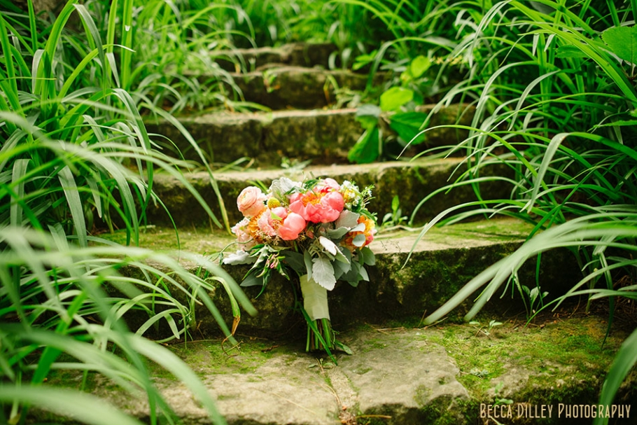 wedding flowers at hilltop in Spring Green WI