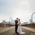 Stone Arch Bridge wedding couple flash composite