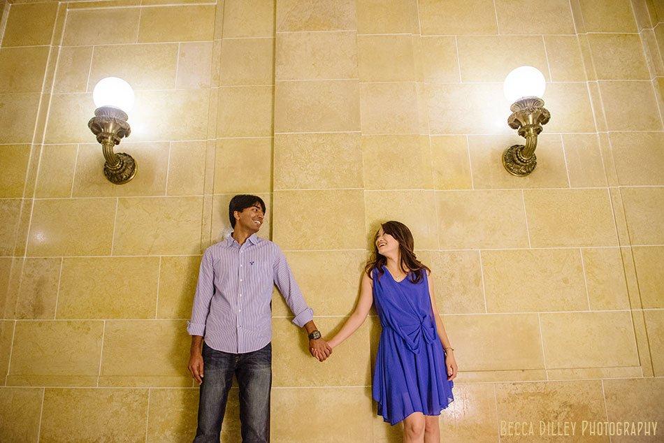 engagement photos inside madison capitol