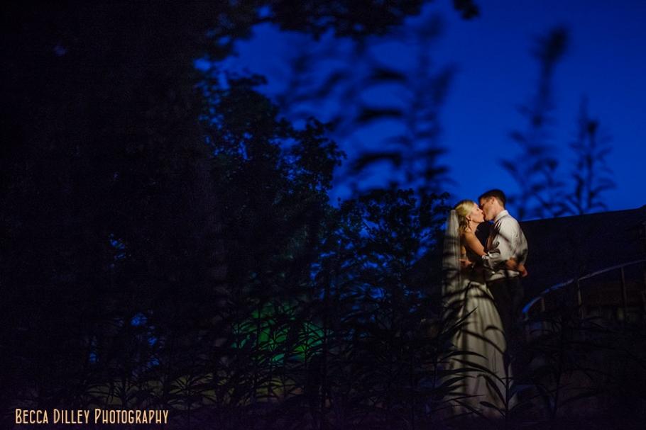 Silverwood park wedding at night