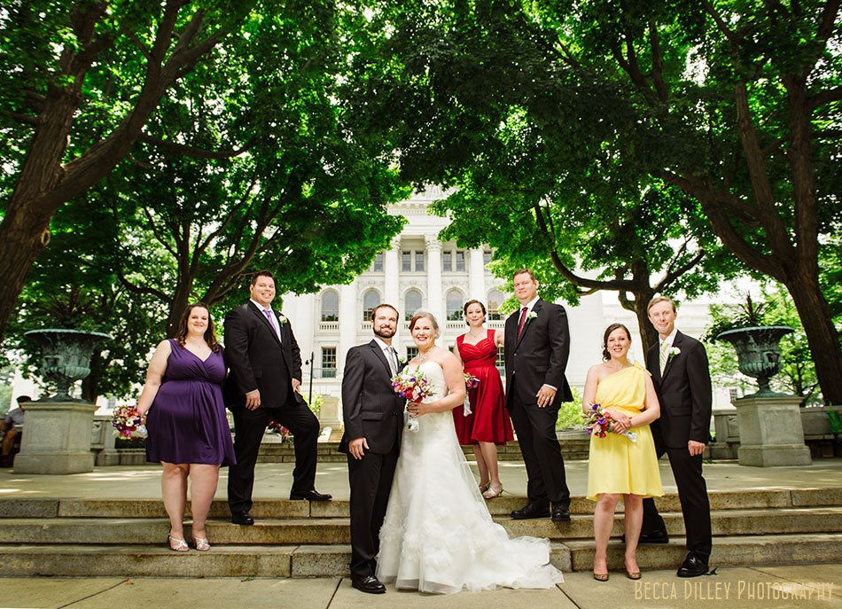 flash composite wedding party madison wi multi colored dreses