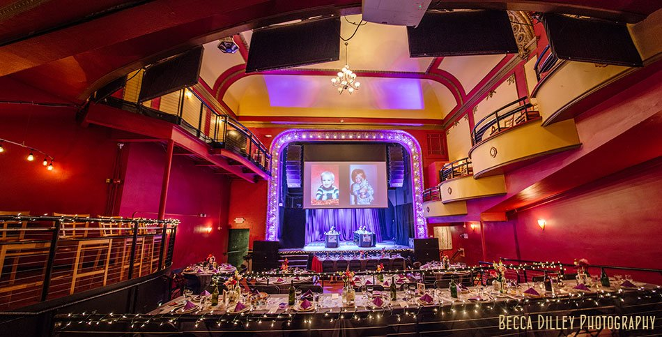 interior majestic theater madison wedding reception