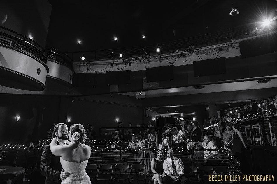 first dance at majestic theater madison wedding reception