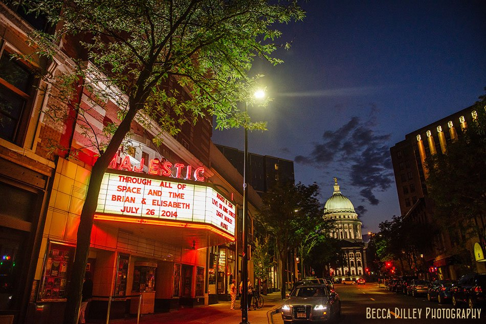 majestic theater at night wedding