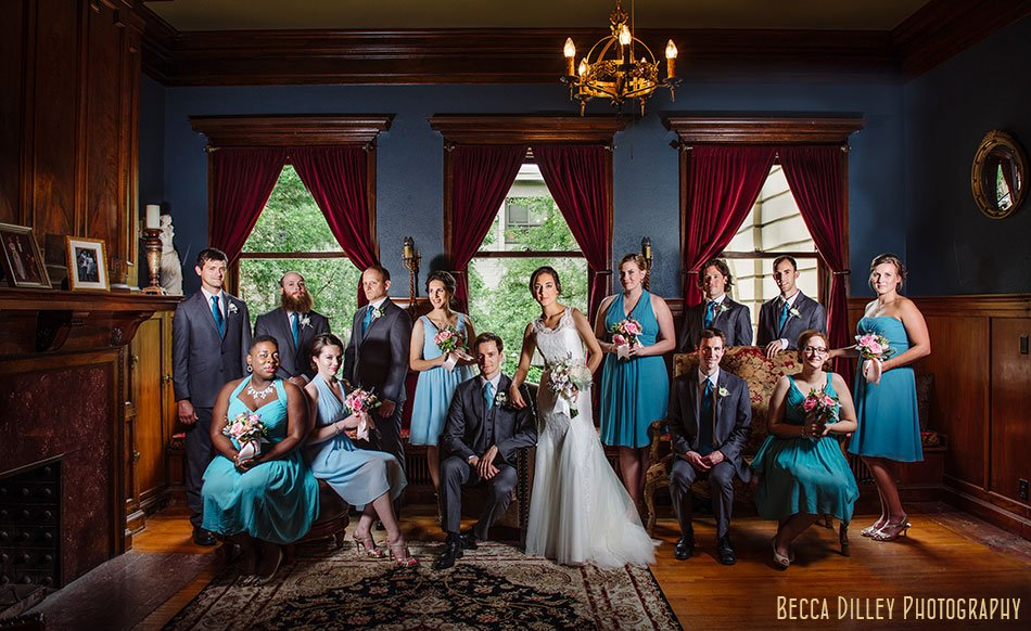 flash composite of wedding part at Semple mansion wedding minneapolis mn