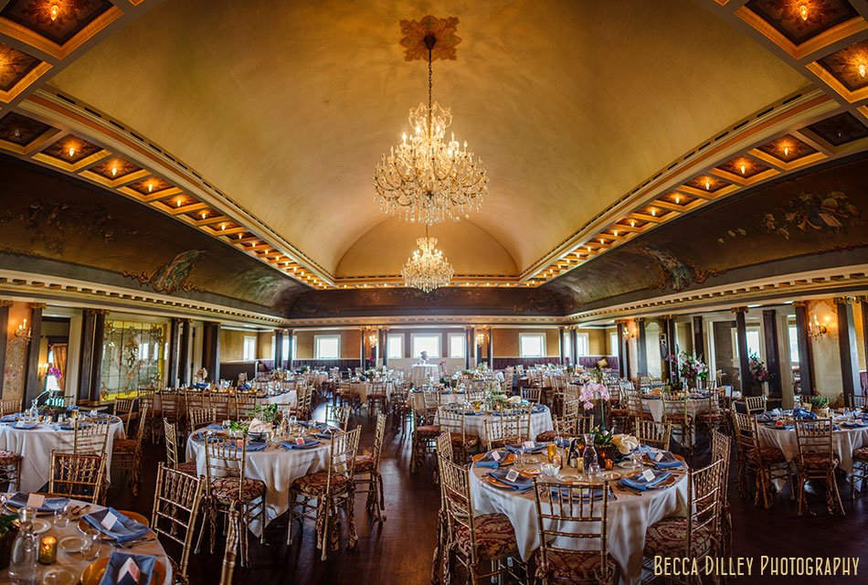 interior of grand paladian ballroom Semple mansion wedding minneapolis mn