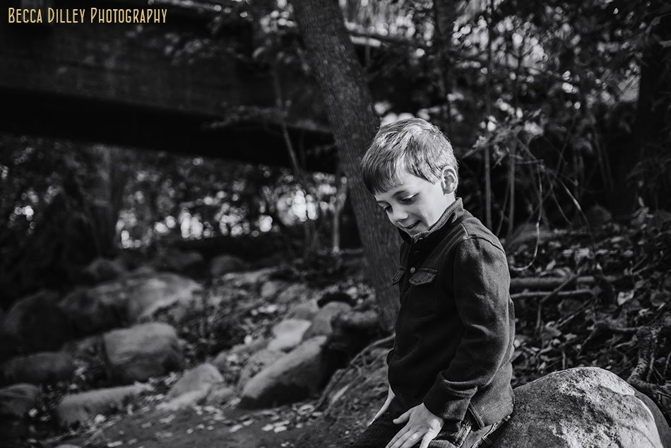 boy at minnehaha creek