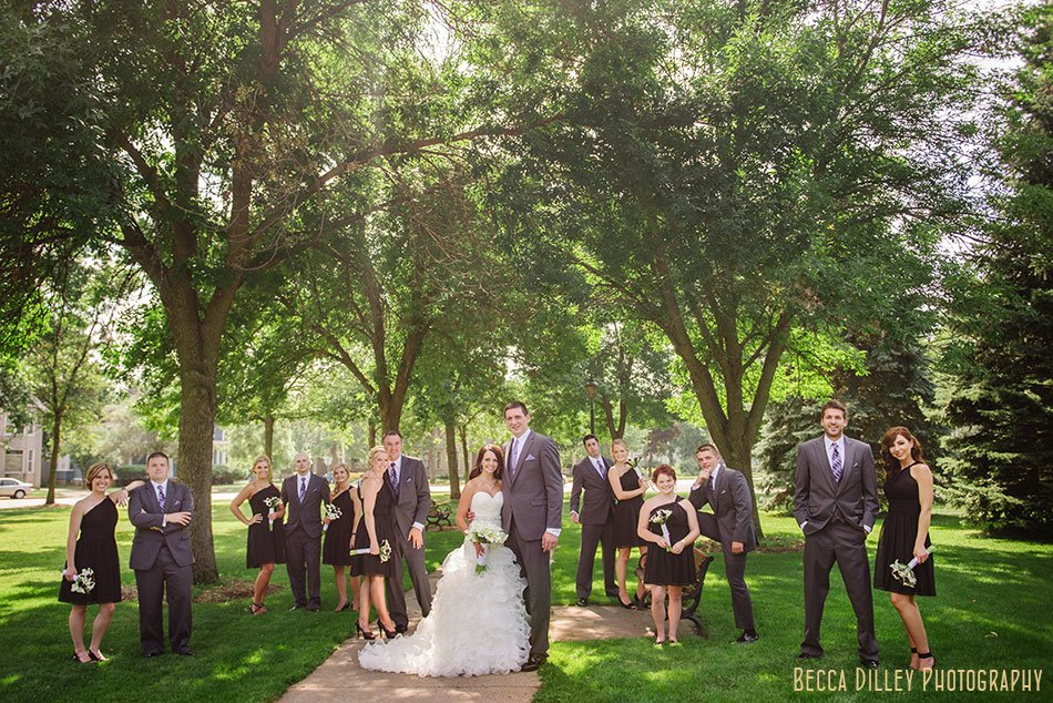 large wedding party winona mn