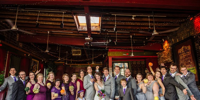 minneapolis wedding party with 20 people