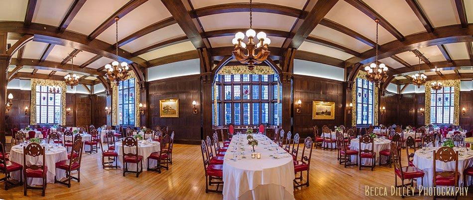 reception hall for dinner Minneapolis club wedding