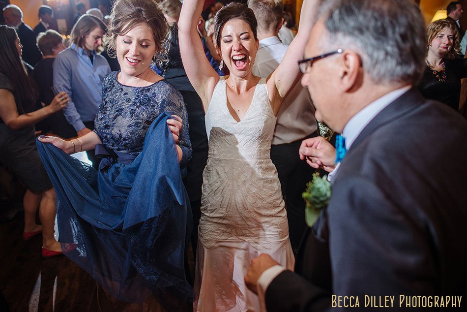 bride dancing to live band Minneapolis club wedding