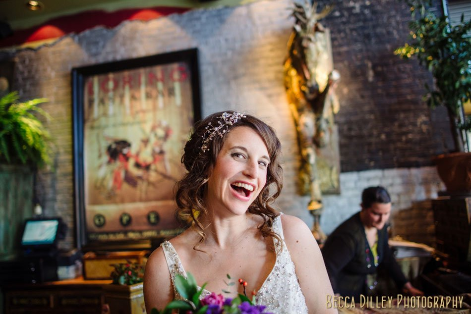 bride at loring pasta bar