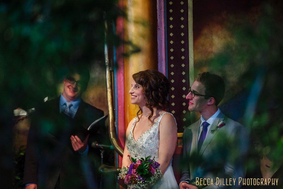 loring pasta bar wedding ceremony bride