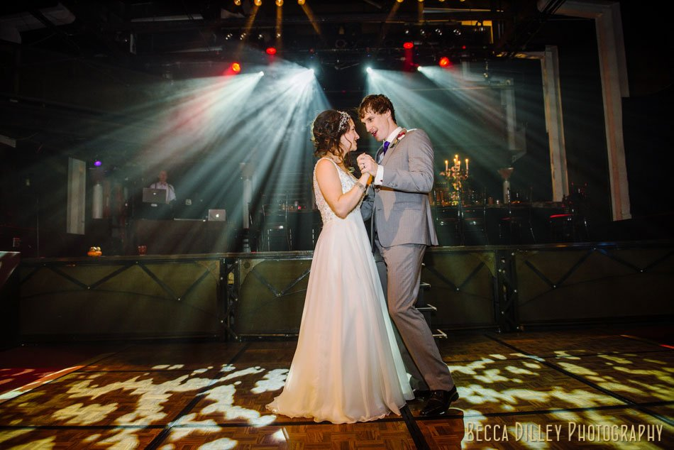 first dance at theater minneapolis wedding photographer