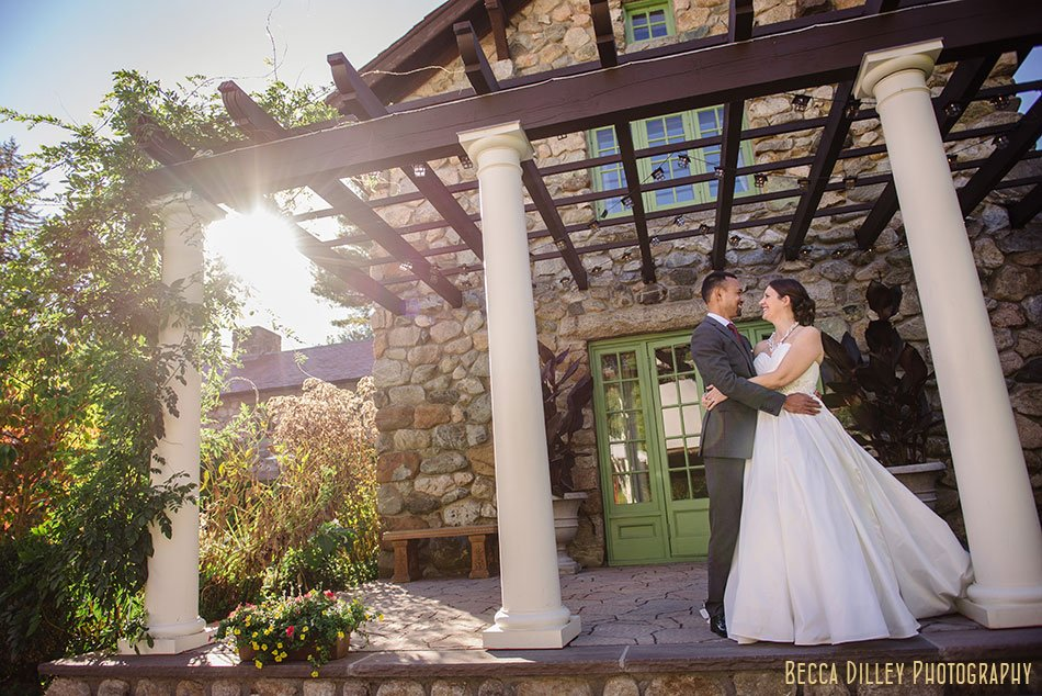 bride and groom before wedding at Willowdale Estate in Topsfield MA