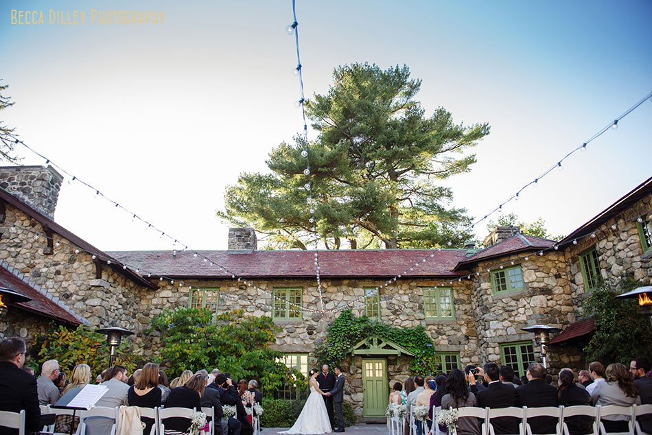 wedding ceremony at Willowdale Estate in Topsfield MA