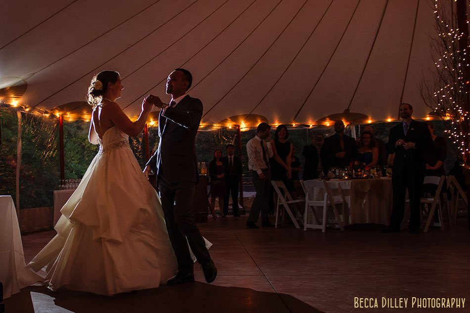 dancing at wedding at Willowdale Estate in Topsfield MA