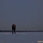 minneapolis wedding photographer winter engagement on snow