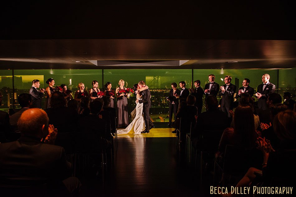 guthrie theater wedding ceremony winter minneapolis photographer