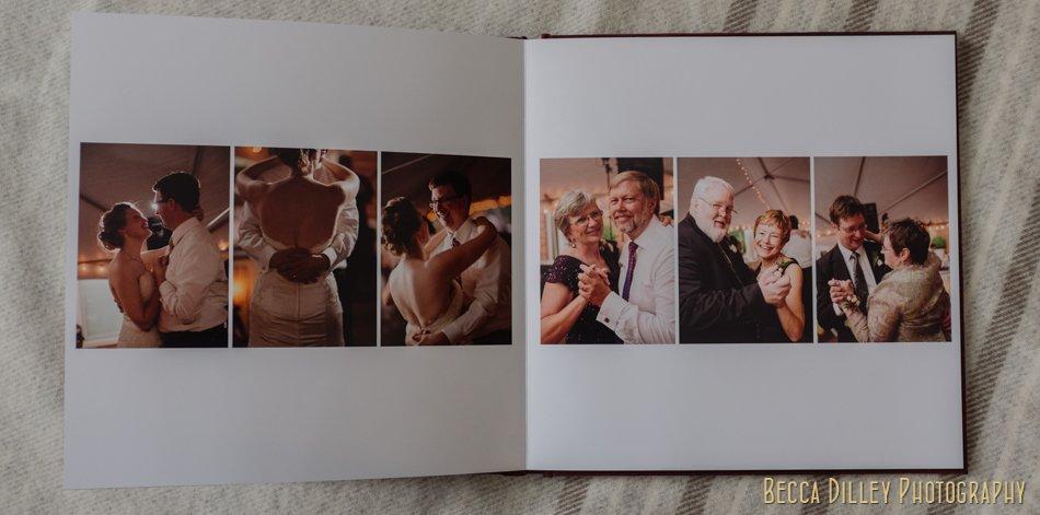 mn wedding photographer album design flush mount