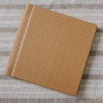 minneapolis wedding photographer album design yellow quilted cover
