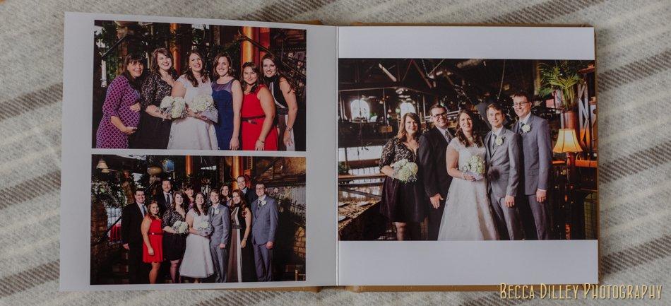 minneapolis wedding photographer album design