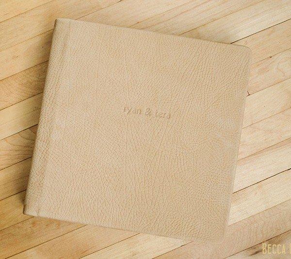 leather flushmount wedding album
