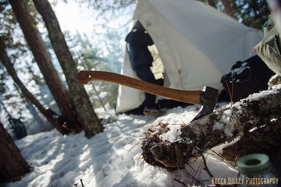 ely winter boundary waters gormet meal axe