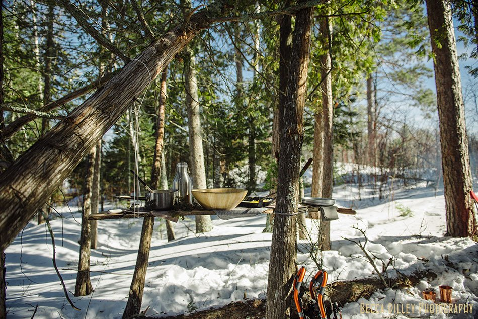 ely winter boundary waters gourmet tablescape