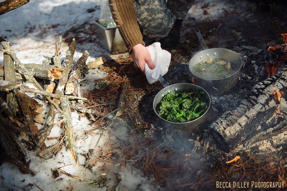 ely winter boundary waters gourmet meal