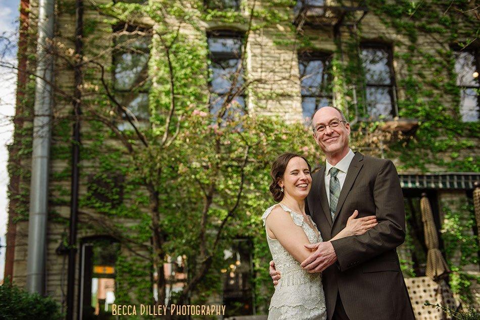 Wa Frost Wedding St Paul Bride And Groom On Patio