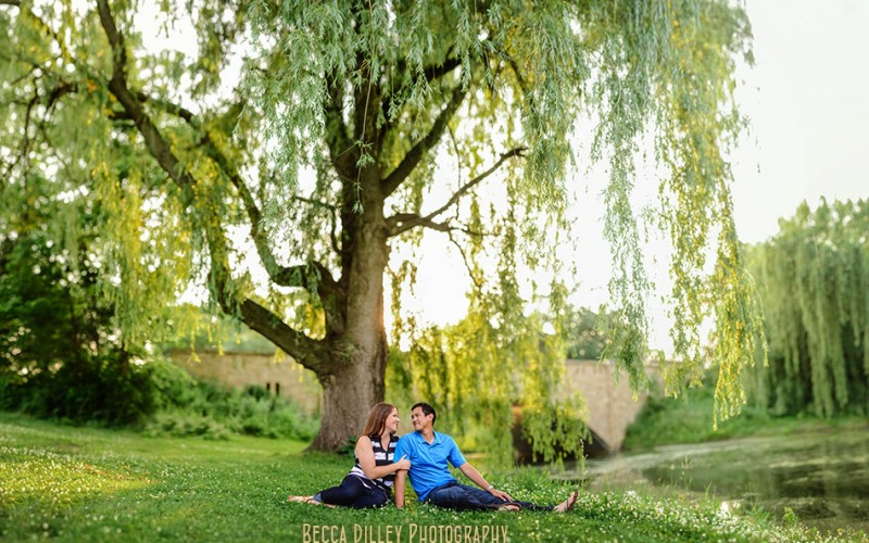 lake phalen park engagement photos by willow tree panorama