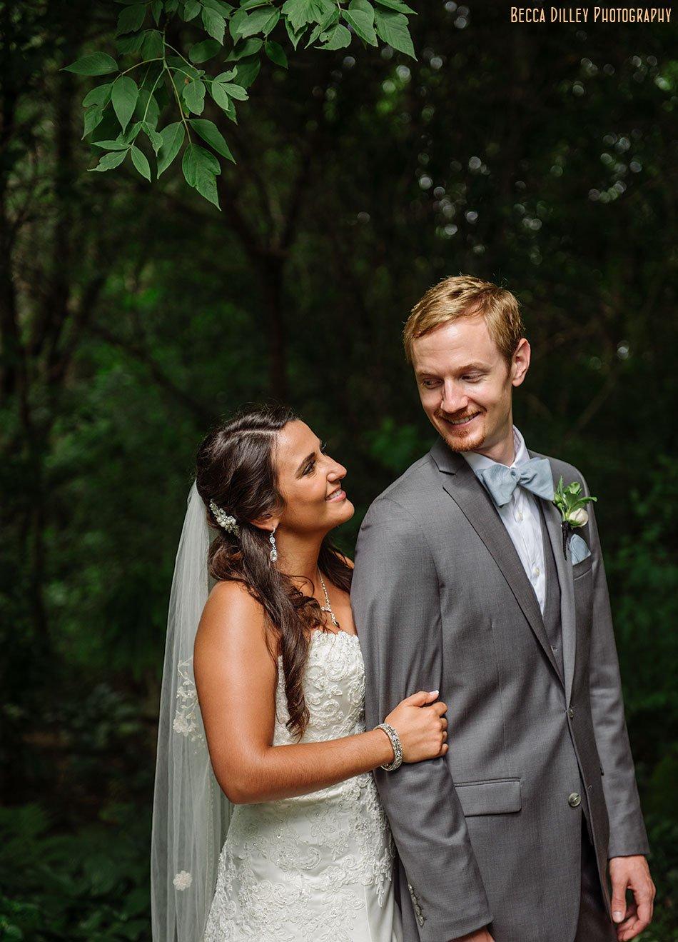 trellis wedding ceremony mn bride and groom