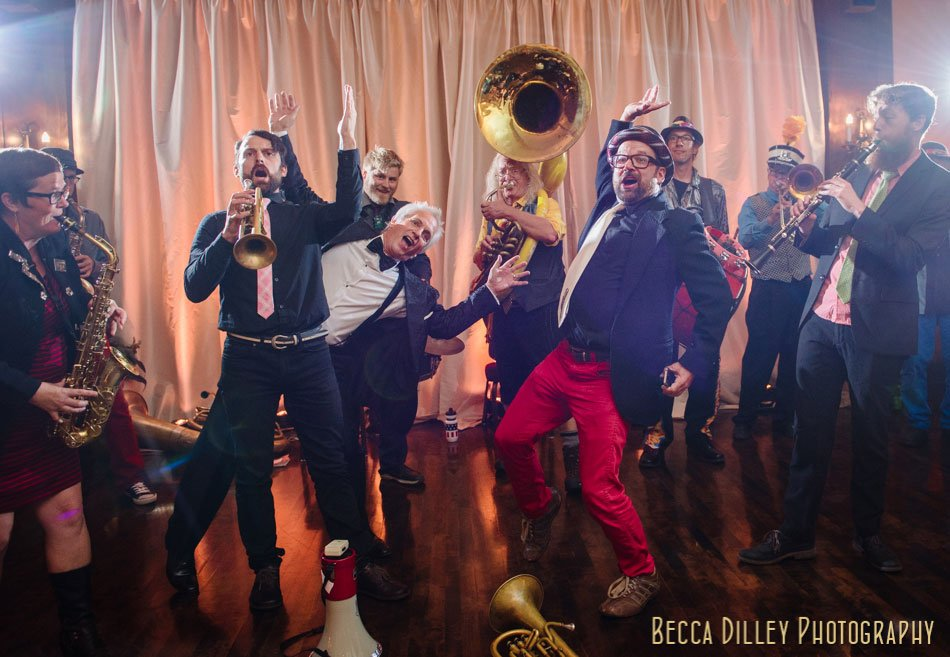 minneapolsi club wedding brass band fun