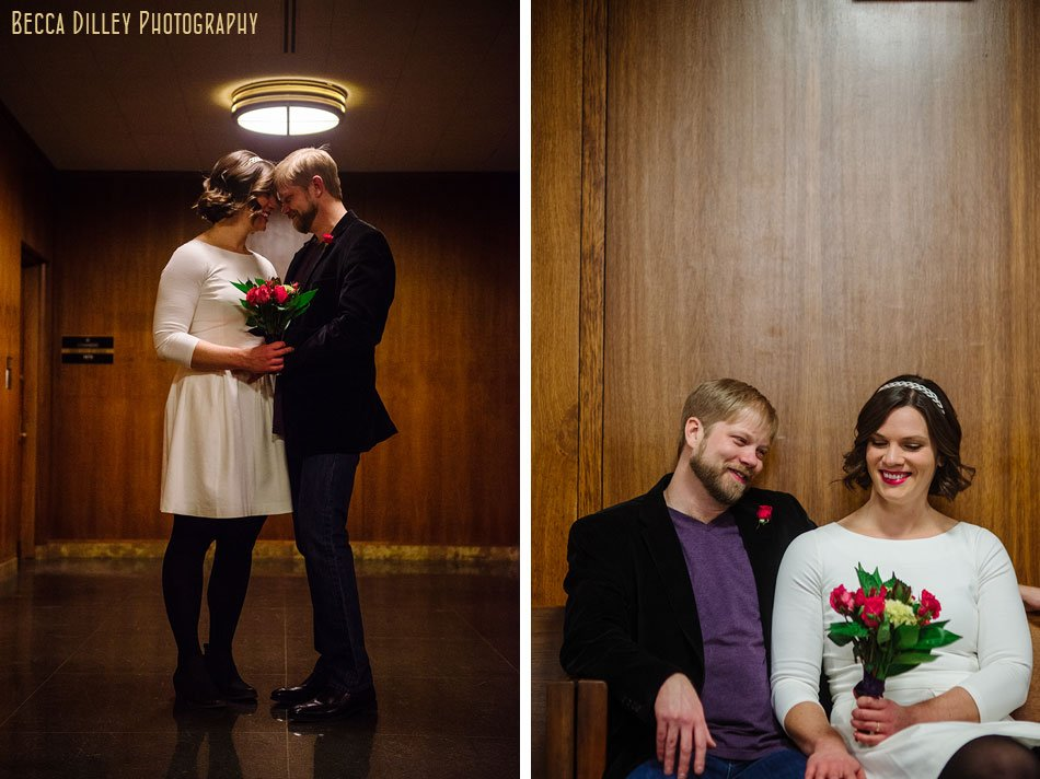 bride and groom st paul city hall elopement