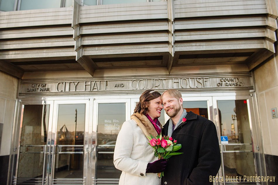 outside st paul city hall elopement