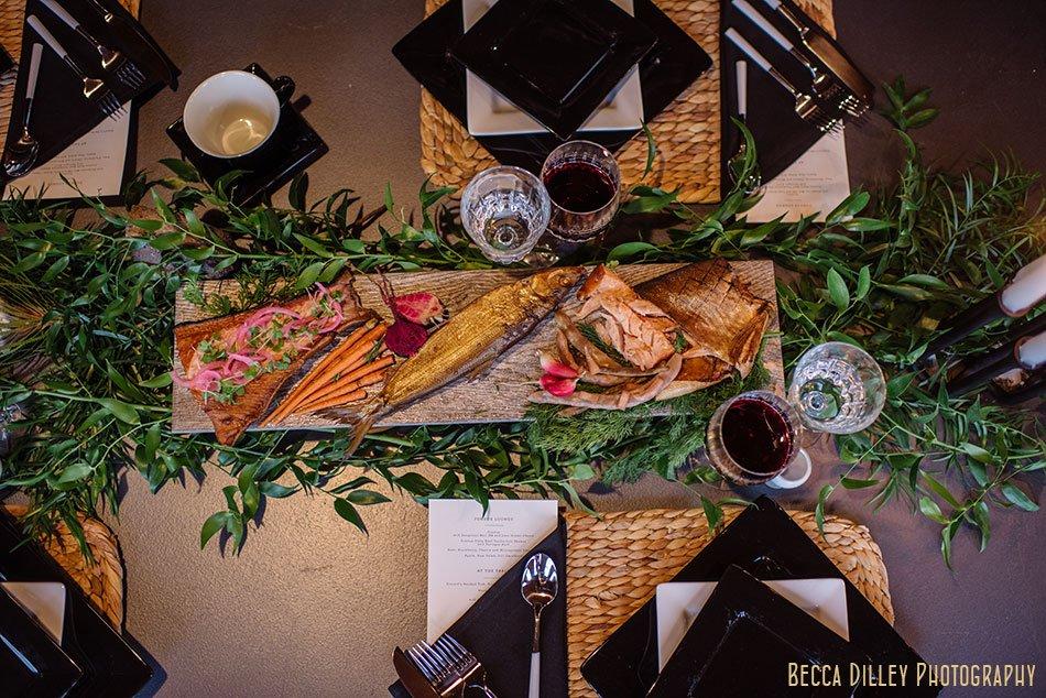 hearten magazine modern Scandinavian dinner photoshoot smoked fish