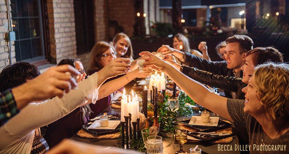 hearten magazine modern Scandinavian dinner photoshoot toast