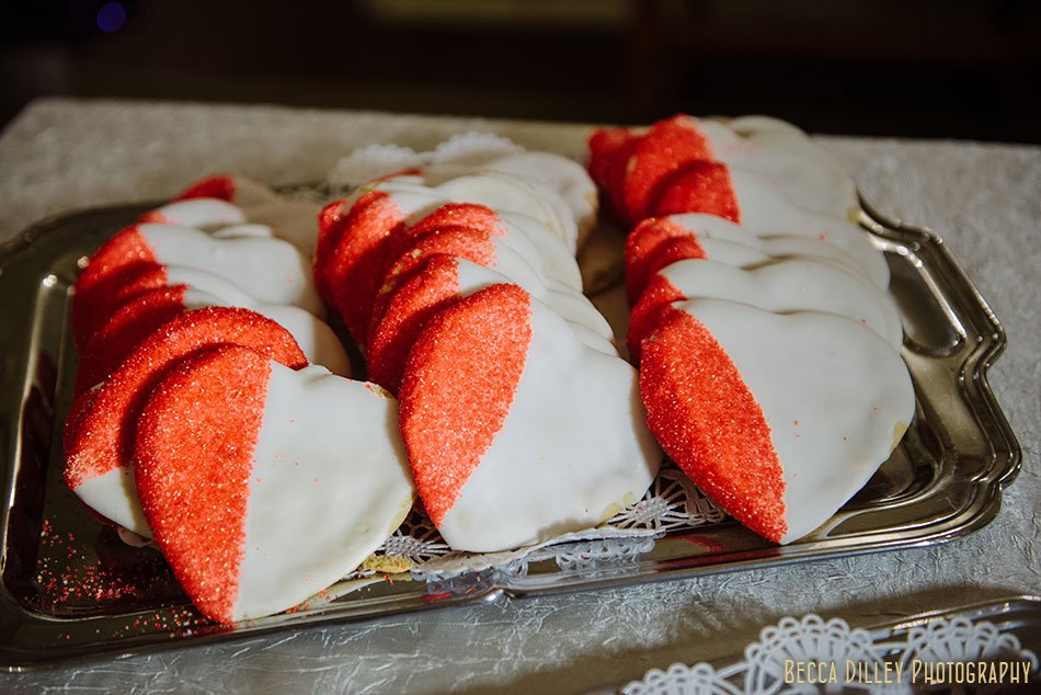 valentines day heart cookies st paul college club winter wedding mn