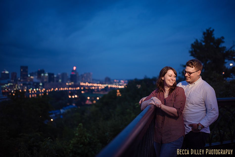 downtown st paul engagement photos at high bridge