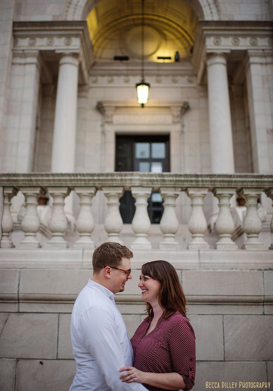 downtown st paul engagement photos at rice park jj hill library